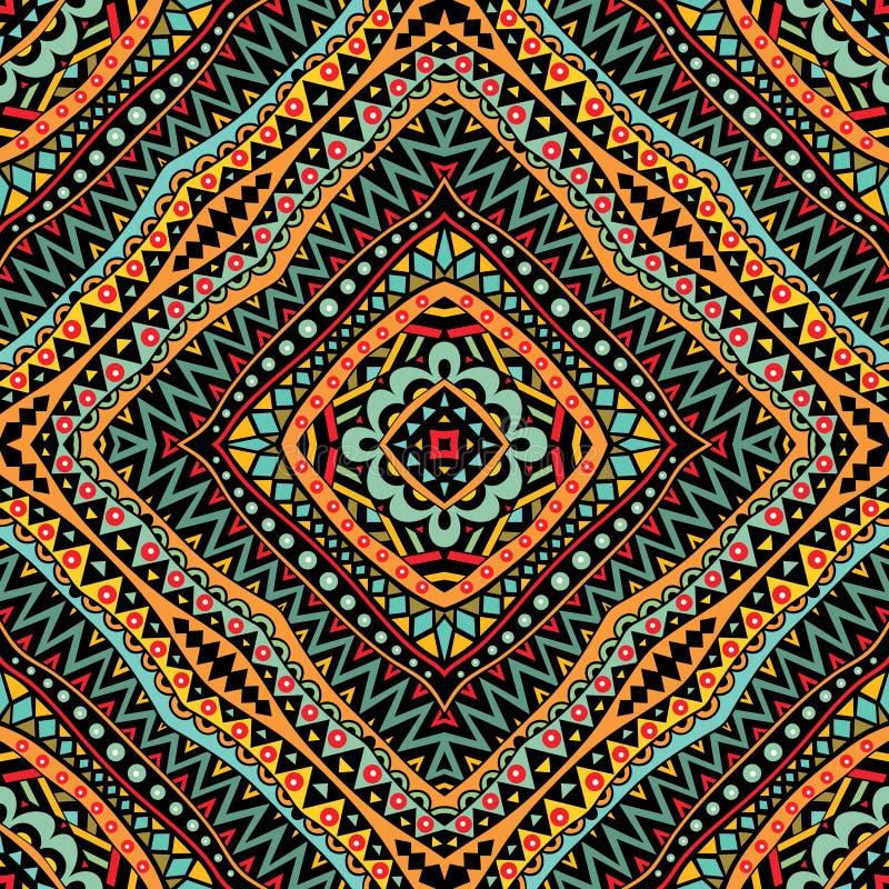 Modèle sans couture tribal lumineux illustration de vecteur