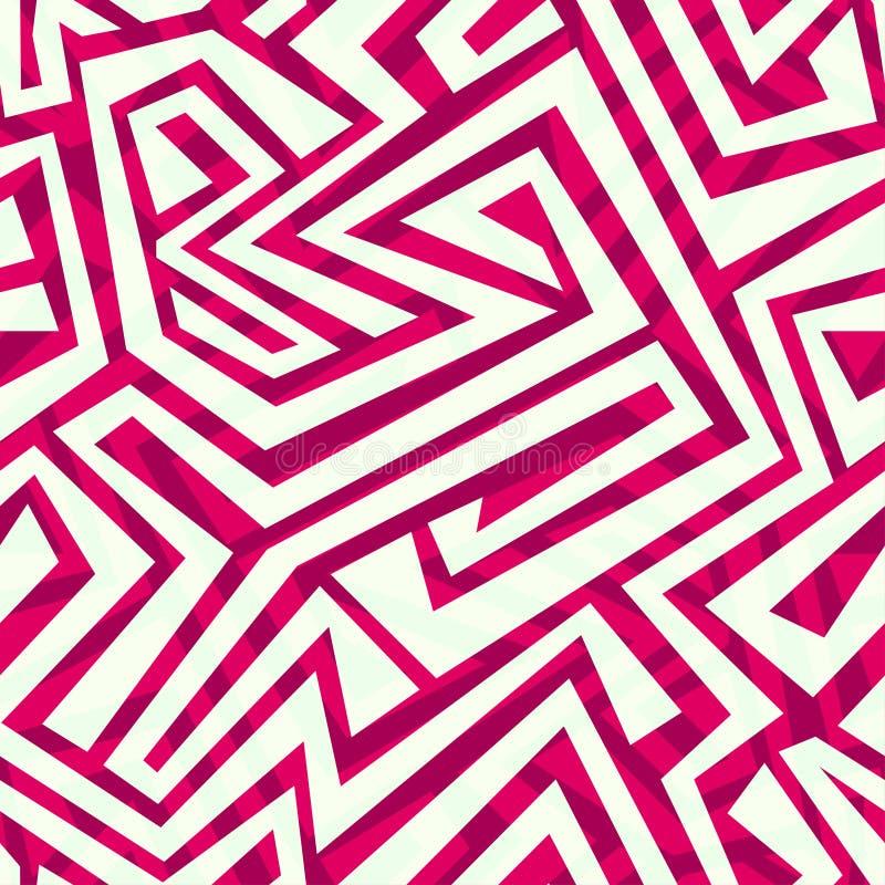 Modèle sans couture tribal rouge illustration libre de droits