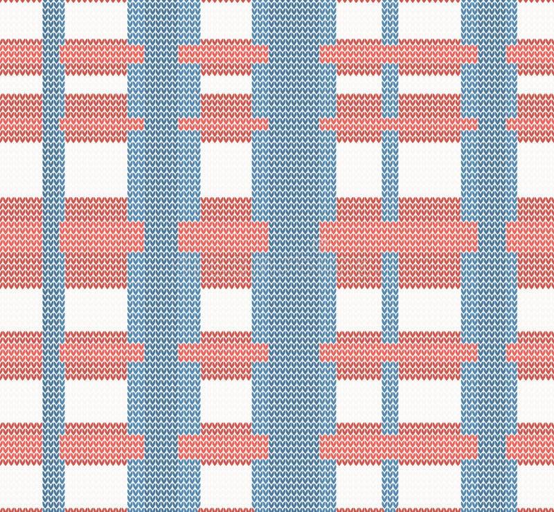 Modèle sans couture tricoté croisé illustration stock