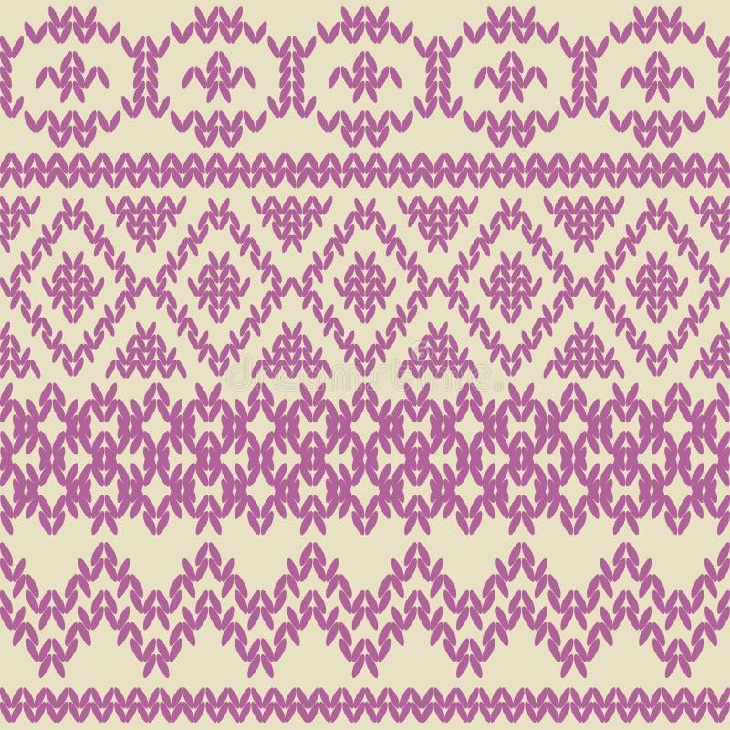 Modèle sans couture tricoté dans le style ethnique. illustration libre de droits