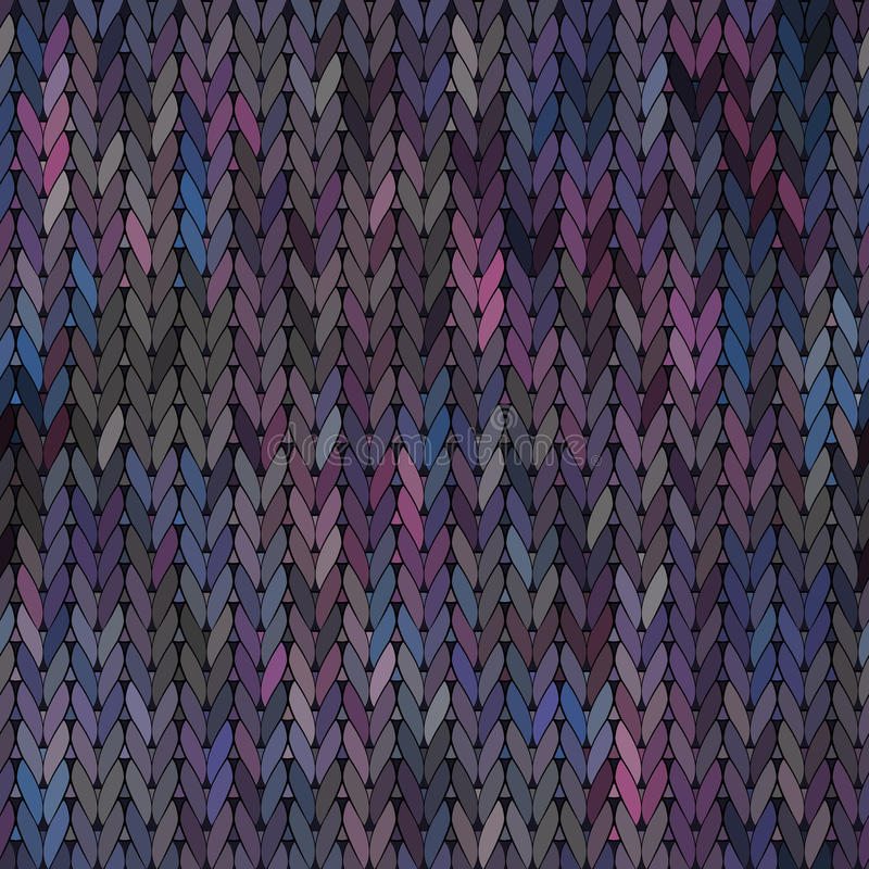 Modèle sans couture tricoté de tissu de vecteur illustration de vecteur