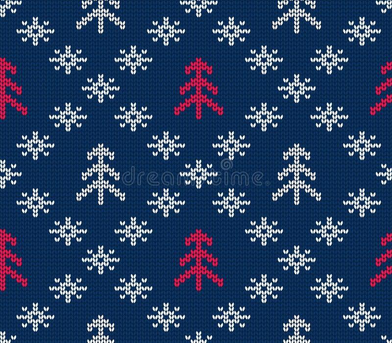 Modèle sans couture tricoté pour le chandail Fond de l'hiver Vecteur ENV 10 illustration de vecteur