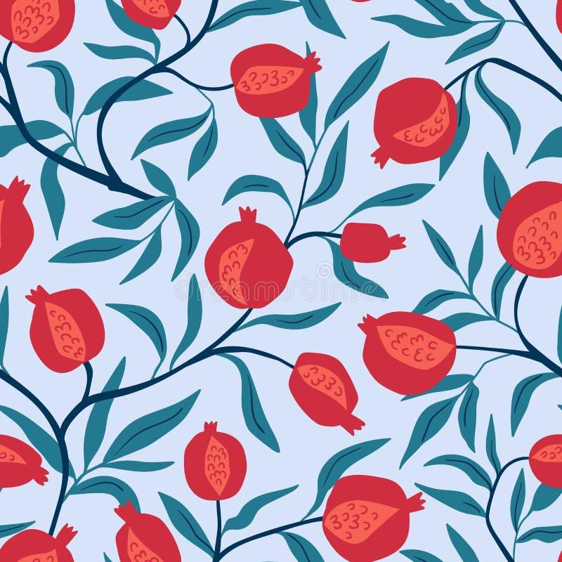 Modèle sans couture tropical avec les oranges rouges Fond répété par fruit Copie lumineuse de vecteur pour le textile illustration libre de droits