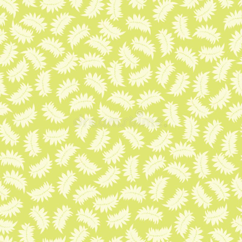 Modèle sans couture vert clair de vecteur avec les feuilles tropicales Approprié au textile, à l'enveloppe de cadeau et au papier illustration stock