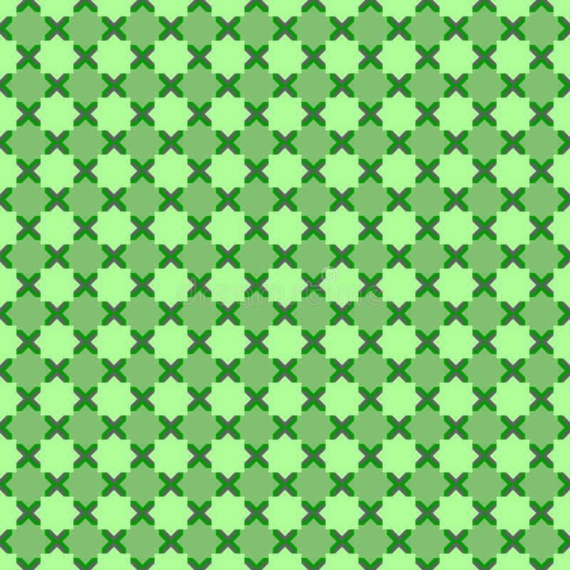 Modèle sans couture vert de forme octogonale d'étoiles illustration libre de droits