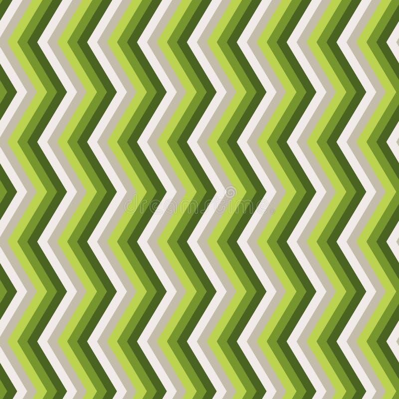 Modèle sans couture vert de zigzag illustration de vecteur