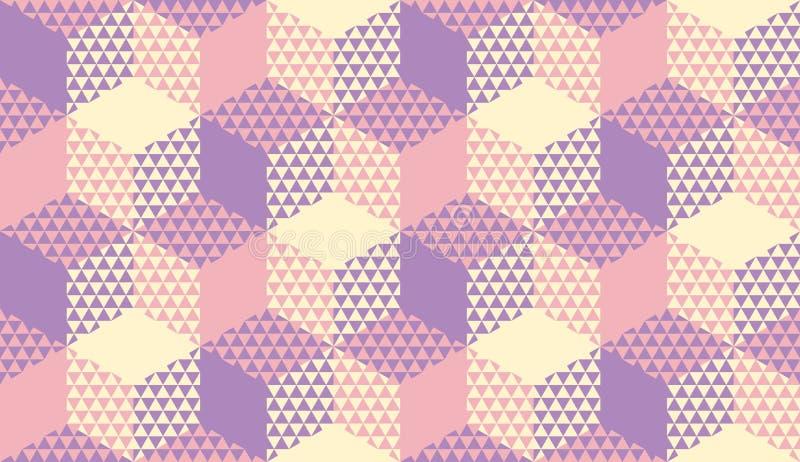Modèle sans couture violet et en ivoire en pastel illustration libre de droits