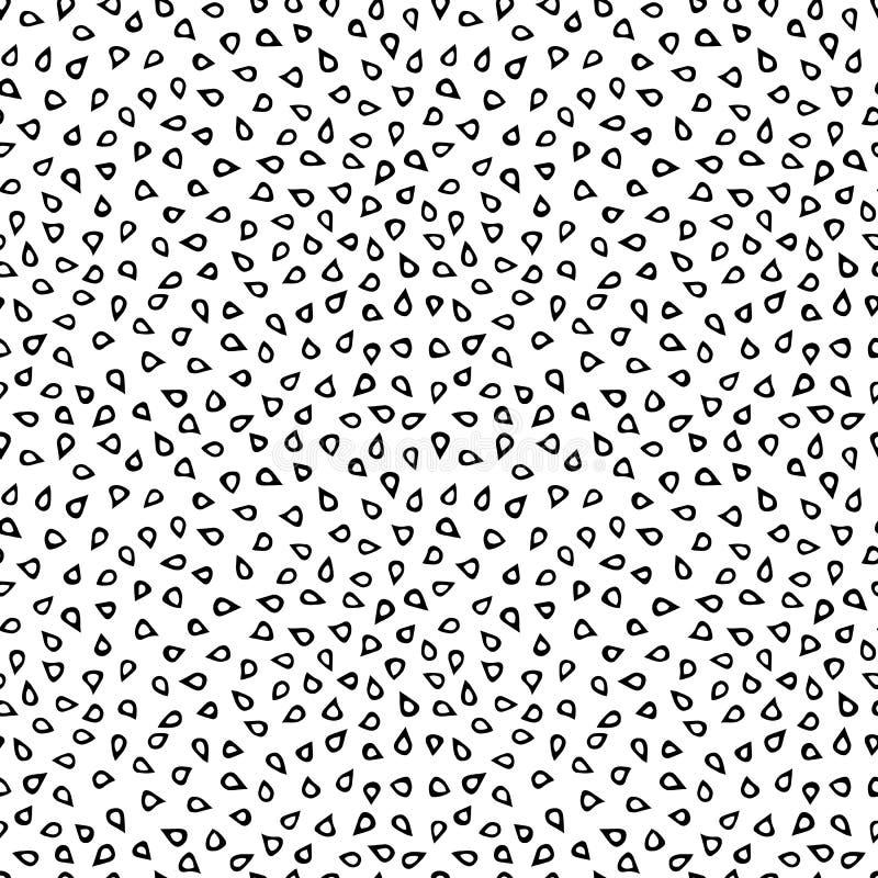 Modèle sans fin sans couture de fond des graines de sésame Collection de nourriture Illustration de haute qualité tirée par la ma illustration de vecteur