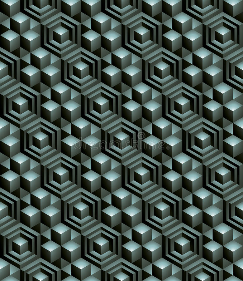 Modèle sans fin texturisé coloré régulier avec tridimensionnel illustration libre de droits