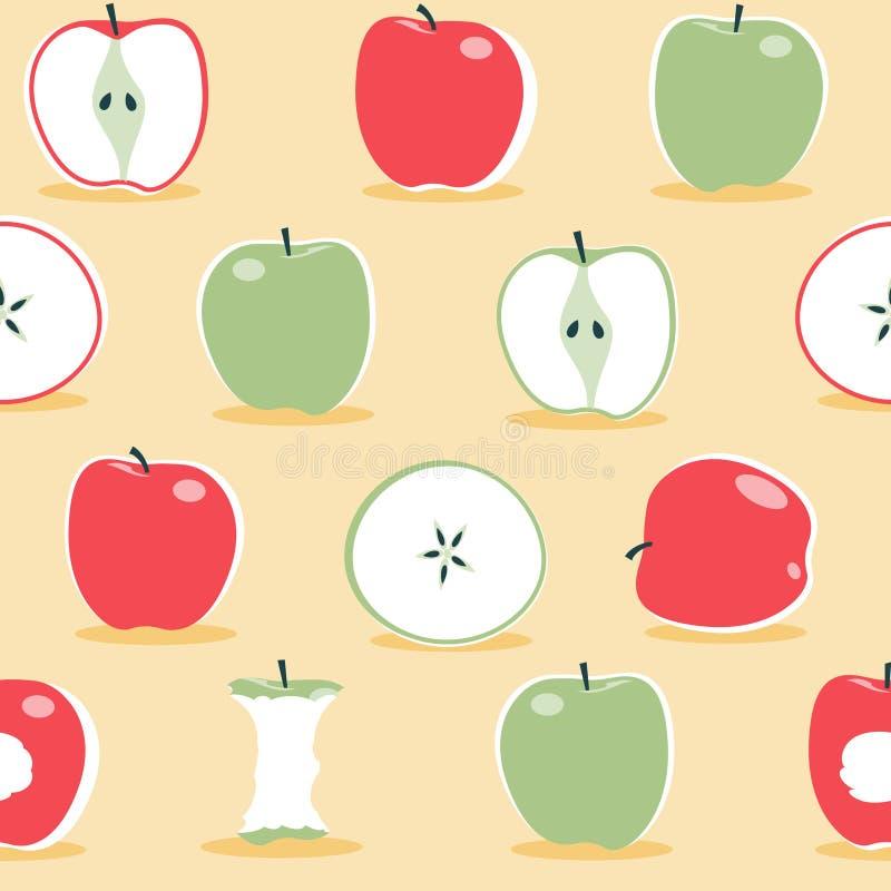 Modèle scandinave de pomme - illustration images stock