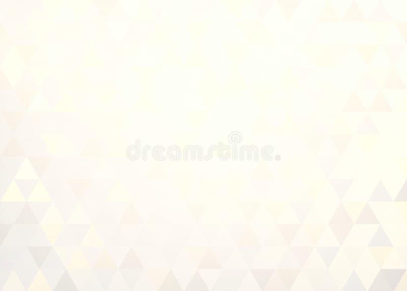 Modèle sensible de formes en pastel de triangles Fond simple géométrique clair illustration de vecteur