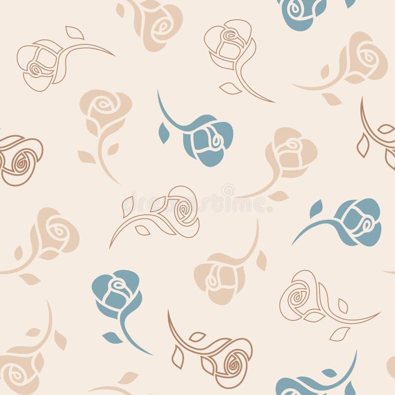 Modèle sensible sans couture avec des roses illustration stock
