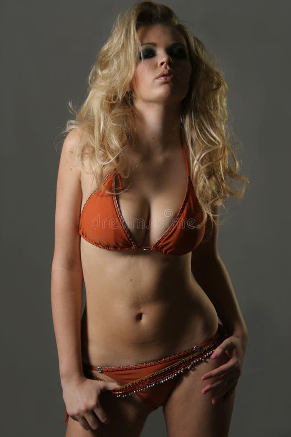 Modèle sexy dans le bikini photographie stock libre de droits