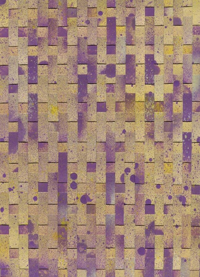Modèle simple de rayure, style de synthwave Coloré, rose et rayures parallèles verticales brunes abrégez le fond image stock