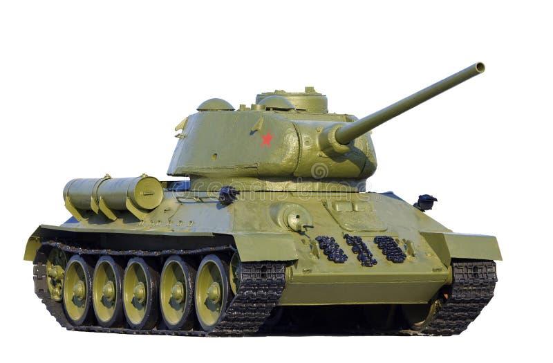 Modèle soviétique T-34 de réservoir photographie stock