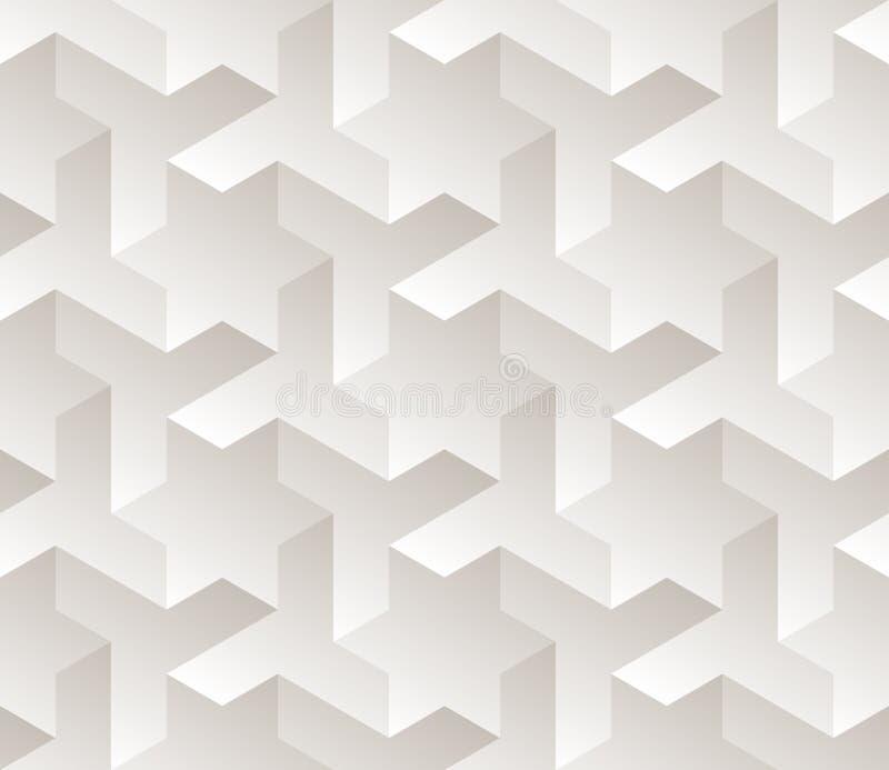 Modèle subtil de gradient de vecteur d'étoile de triangle de Tessellation géométrique noir et blanc sans couture de forme illustration stock