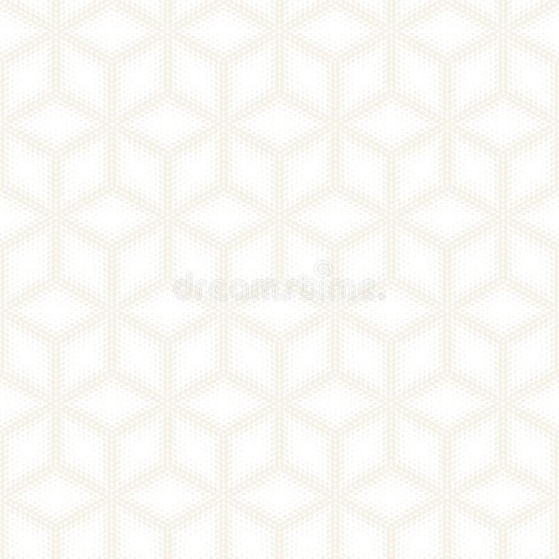 Modèle subtil sans couture de rayures de vecteur Texture élégante moderne avec le treillis monochrome Répétition de la grille géo photographie stock libre de droits