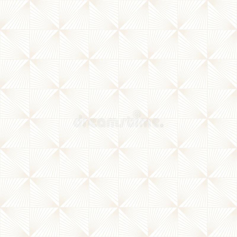 Modèle subtil sans couture de trellis de vecteur Texture élégante moderne avec le treillis monochrome Répétition de la grille géo photographie stock