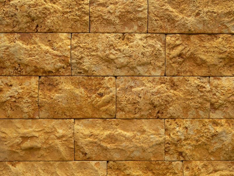 Modèle superficiel par les agents abstrait de mur de briques d'orange et de gingembre pour le fond photo stock