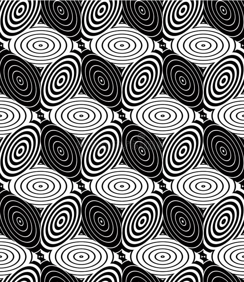 Modèle symétrique monochrome sans fin, conception graphique géométrique illustration stock