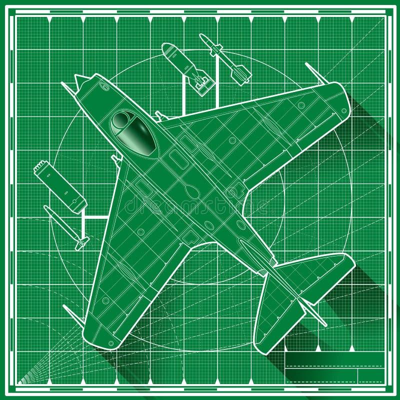 Download Modèle Tôt De Chasseur à Réaction Illustration de Vecteur - Illustration du avion, rétro: 76090565