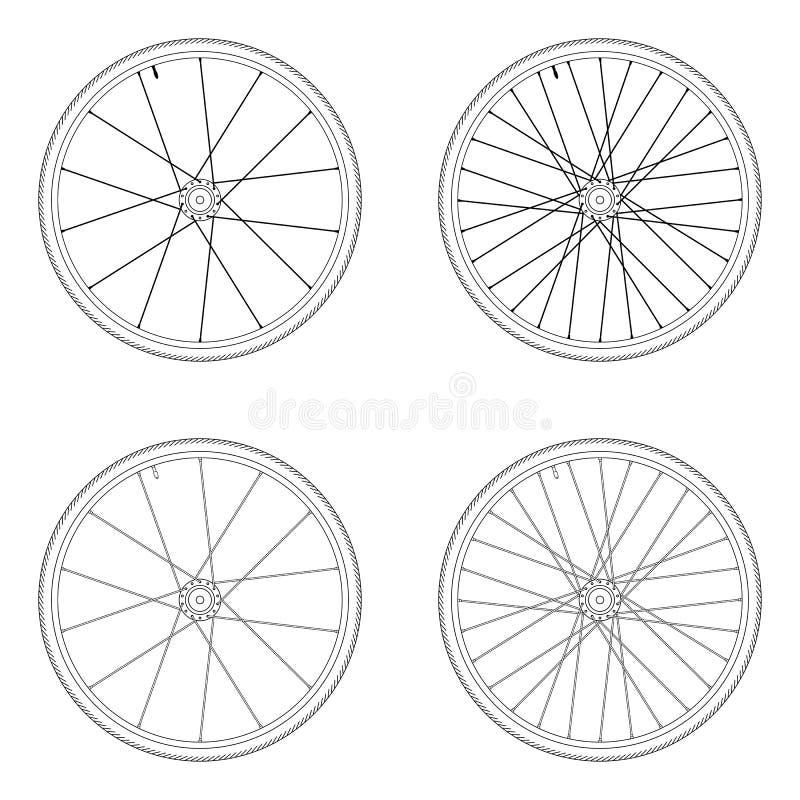 Modèle tangentiel de laçage de roue de rai de bicyclette illustration libre de droits