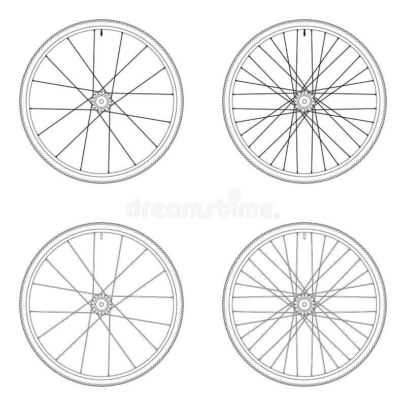 Modèle tangentiel de laçage de roue de rai de bicyclette illustration de vecteur