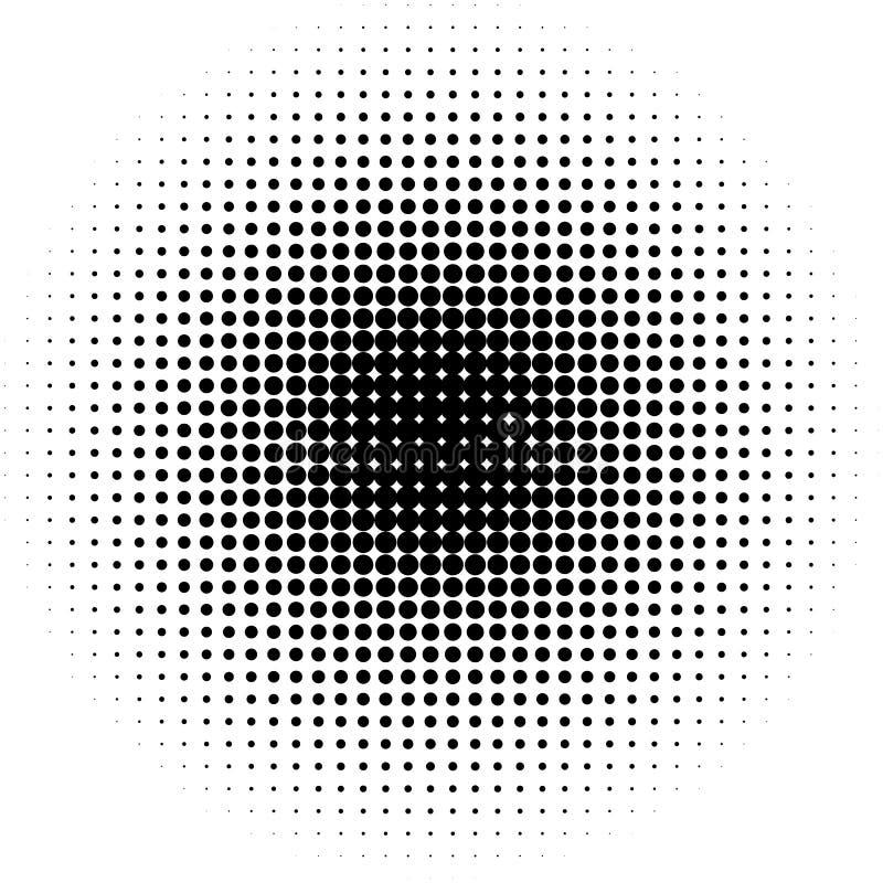 Modèle/texture tramés de cercle Points tramés monochromes illustration libre de droits