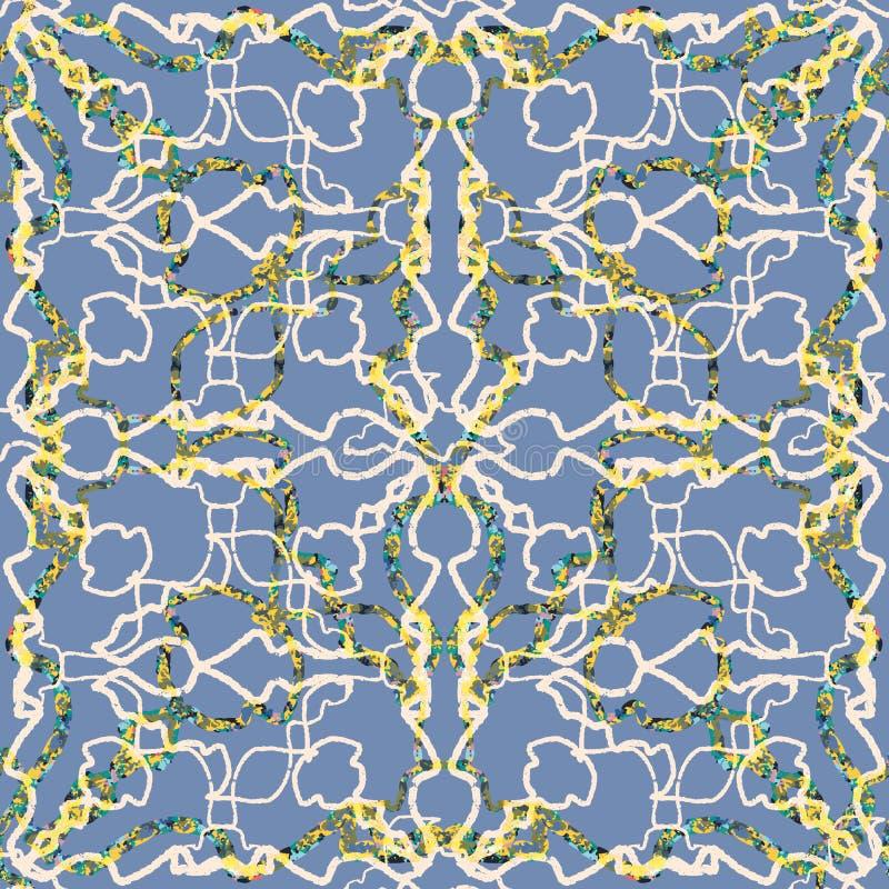 Modèle texturisé abstrait sans couture Lignes et griffonnages de Marblelized illustration libre de droits