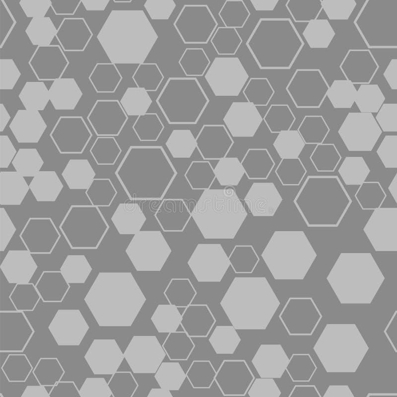 Modèle texturisé sans couture naturel de nid d'abeilles illustration de vecteur