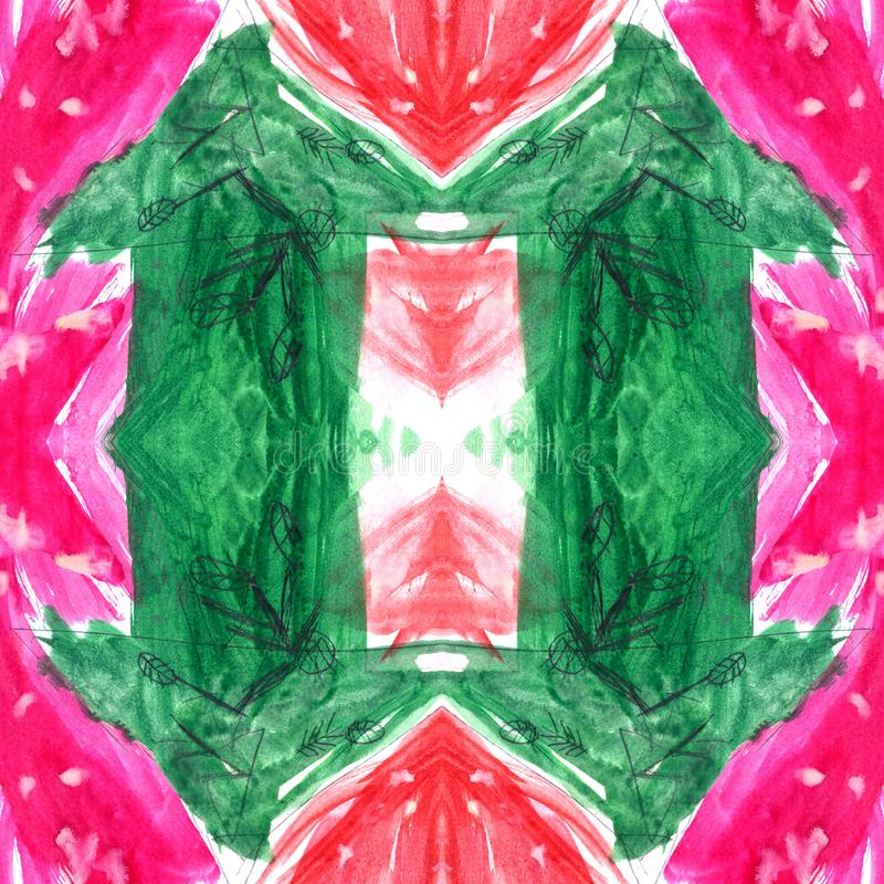 Modèle tiré par la main abstrait sans couture d'aquarelle avec la flèche Photo pour l'oeuvre d'art créative de papier peint ou de illustration stock
