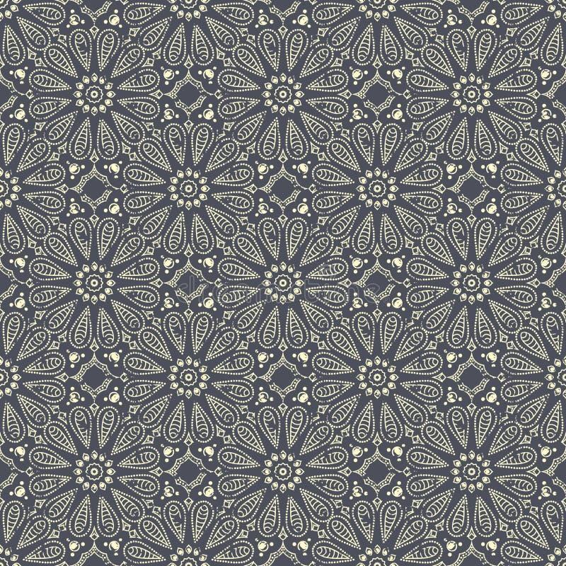 Modèle tiré par la main sans couture de mandala Éléments de vintage dans l'orienta illustration libre de droits
