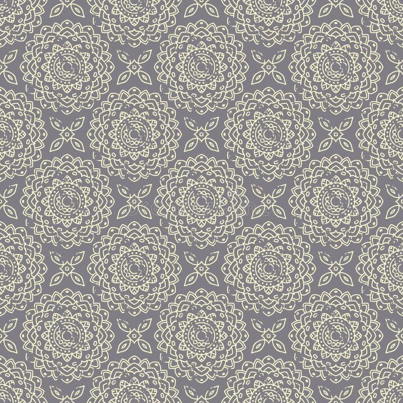 Modèle tiré par la main sans couture de mandala Éléments de vintage dans l'orienta illustration stock