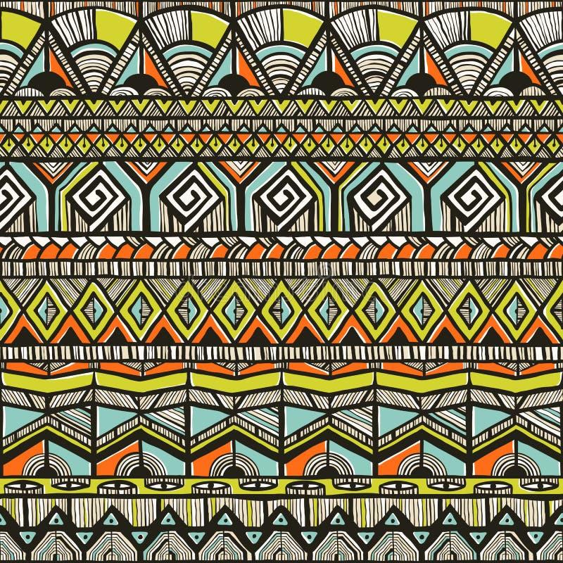 Modèle tiré par la main tribal illustration stock