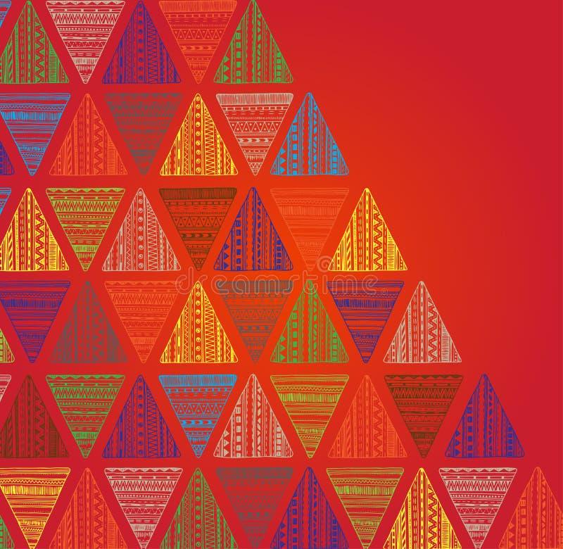 Modèle tiré par la main unique de triangle illustration de vecteur