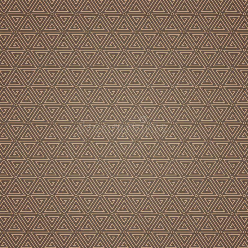 Modèle tissé par brocard de chinois traditionnel des étoiles chanceuses illustration de vecteur