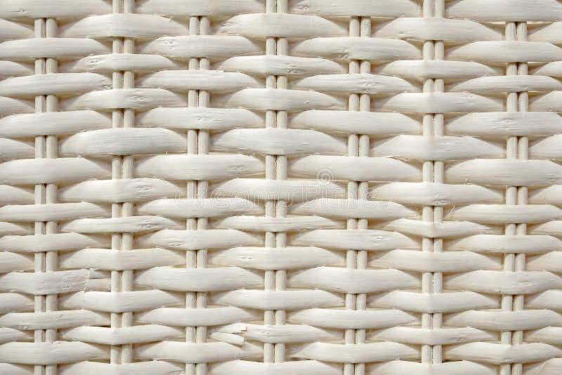 Modèle tissé par rotin blanc, plan rapproché de fond texturisé photos libres de droits