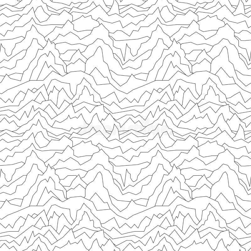 Modèle tordu sans couture Fond abstrait de courbe texture blanche illustration de vecteur