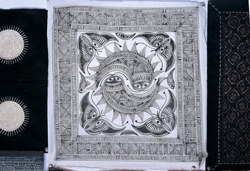 Les batiks de Hmong photo stock