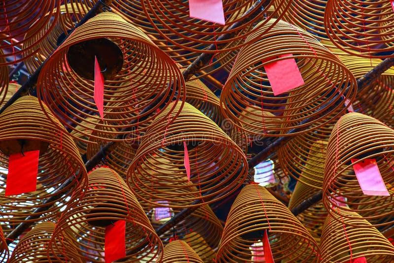 Modèle traditionnel chinois de bobine d'encens photographie stock