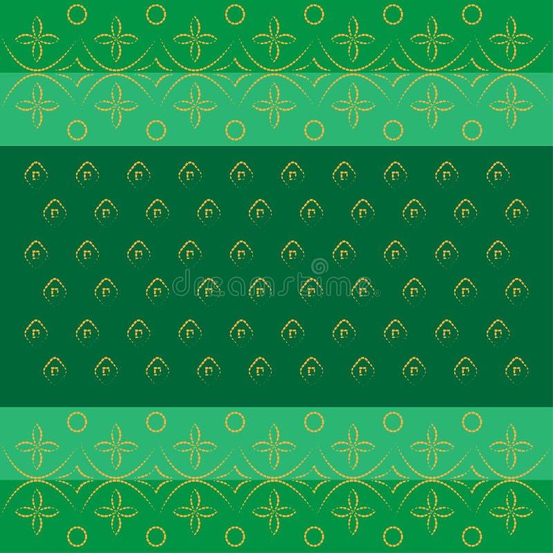 Modèle traditionnel indien de bandhej de Bandhani en vert illustration libre de droits