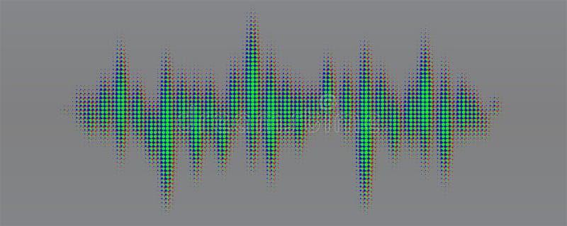 Modèle tramé coloré multi des points rouges, verts, bleus pour le softlight ou du mode de mélange recouvert Rythme de conception  illustration libre de droits
