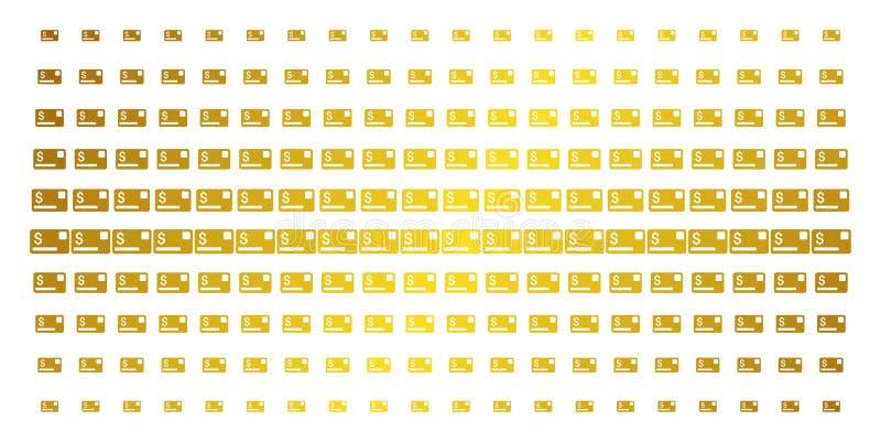 Modèle tramé d'or de carte de crédit illustration stock