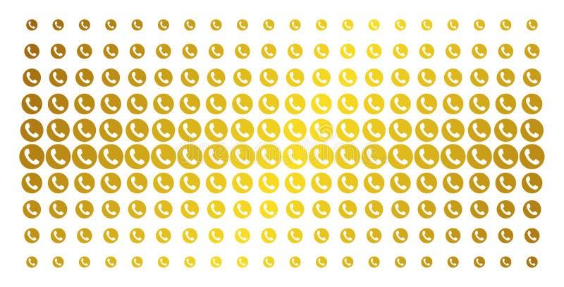 Modèle tramé d'or de numéro de téléphone illustration stock
