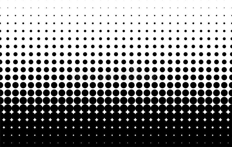 Modèle tramé Fond comique Rétro contexte pointillé avec des cercles, points Rebecca 36 illustration de vecteur