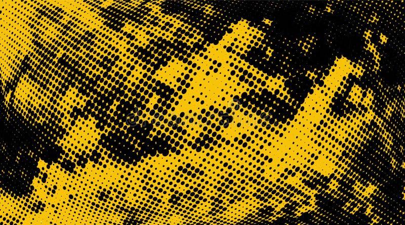 Modèle Tramé Noir Jaune Monochrome Abstrait Configuration