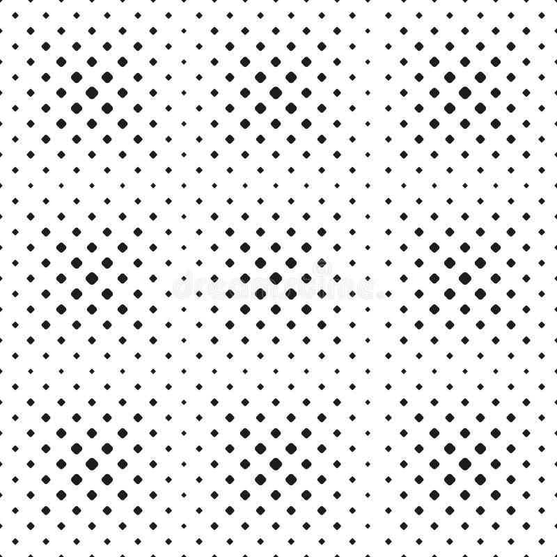 Modèle tramé sans couture de tache des places arrondies sur le fond blanc Fond tramé Contrasty Vecteur illustration de vecteur