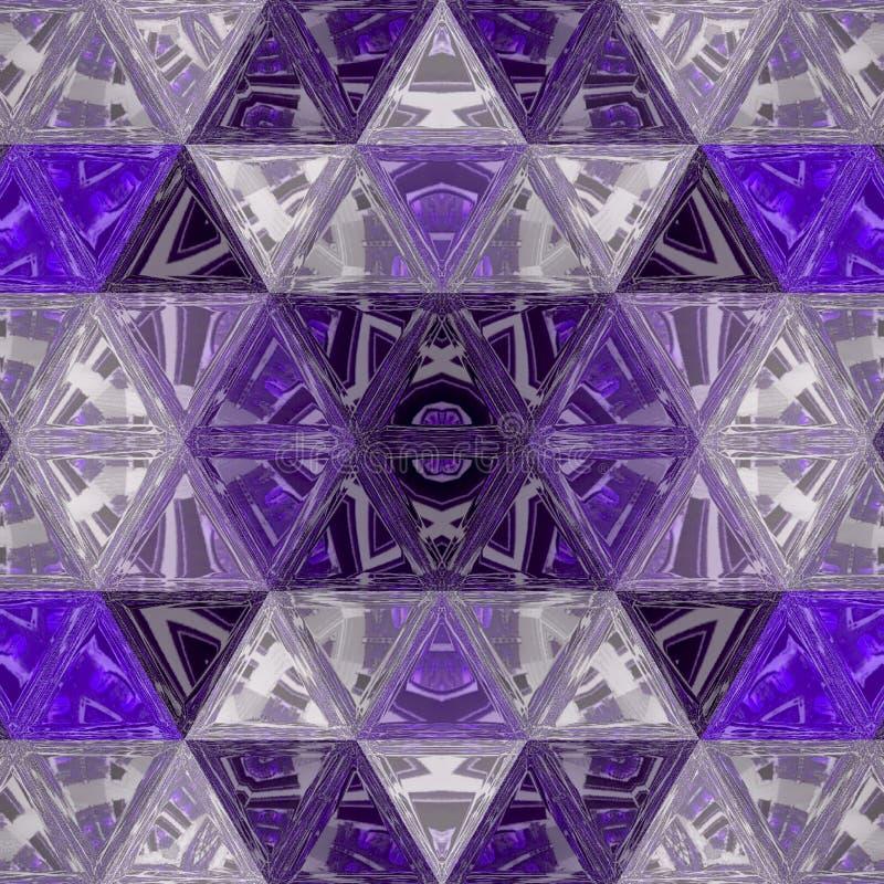Modèle transparent abstrait avec des triangles dans l'ultraviolet image libre de droits