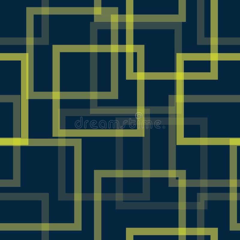 Modèle transparent abstrait carré avec une transparence différente image stock
