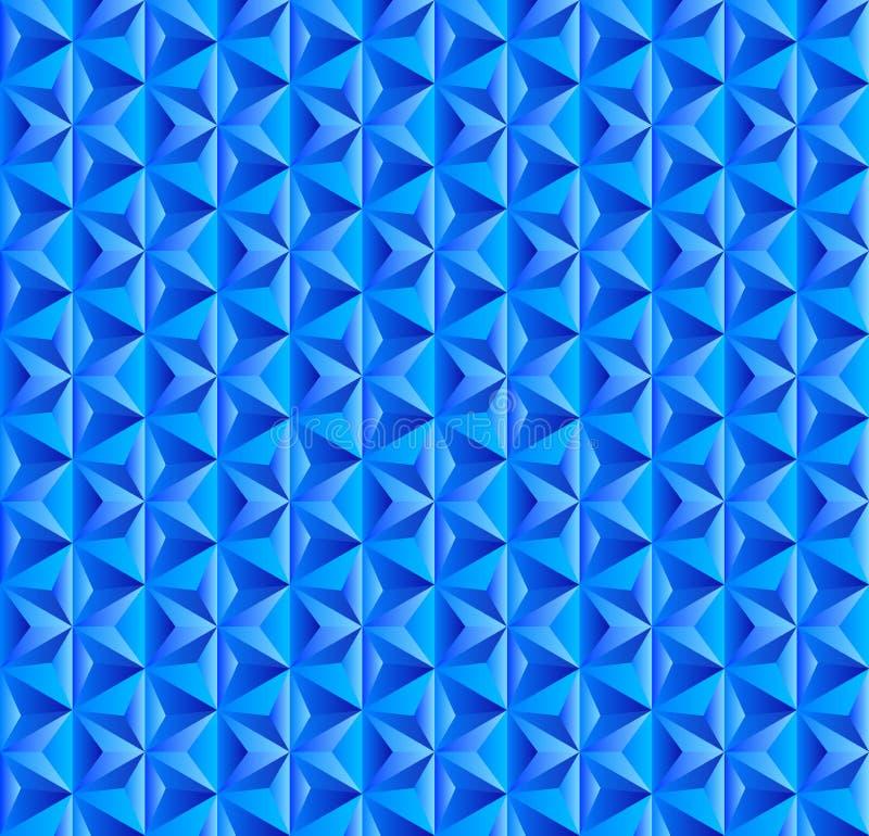Modèle triangulaire bleu sans couture pour le fond abstrait illustration de vecteur